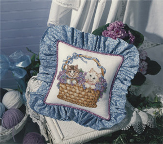 ePattern Basket of Kittens Cross Stitch Pattern
