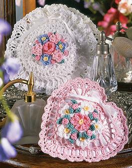 ePattern Crochet Floral Sachets
