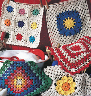 ePattern Crochet Granny Square Dishcloth Patterns