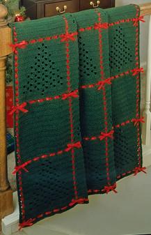 ePattern Christmas Tree Afghan