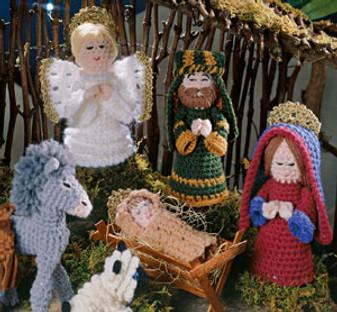 ePattern Away in a Manger Crocheted Nativity