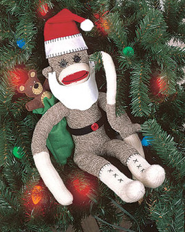 ePattern M. Claus the Sock Monkey