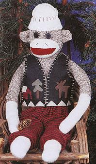 ePattern Woody the Sock Monkey