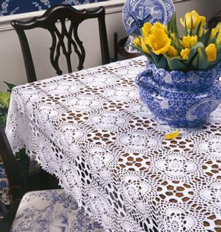 ePattern Crochet Cluster Motif Tablecloth Pattern