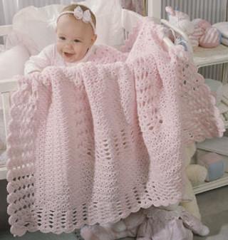 ePattern Clusters & Shells Baby Afghan