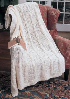 ePattern Faux Panel Knit Afghan Pattern