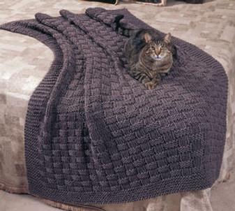 ePattern Basket Weave Comfy Knit Afghan Pattern