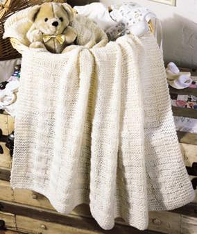 ePattern Basket Weave Baby Blanket