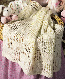 ePattern Patchwork Knit Afghan Pattern for Baby