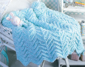 ePattern Whisper Soft Baby Afghan