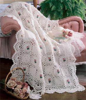 ePattern Rosebud Crochet Afghan Pattern