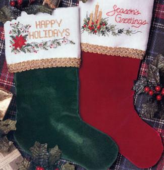 ePattern Cross Stitch Christmas Stocking Cuffs