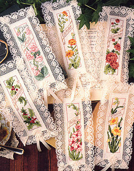 ePattern Flower of the Month Bookmarks