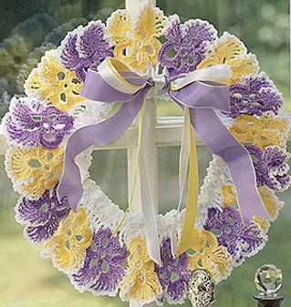 ePattern Pansy Wreath