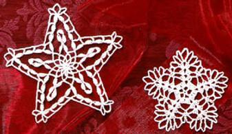 ePattern Christmas Stars Thread Crochet Pattern