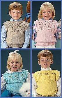 ePattern Quick Knit Animal Vests