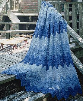 ePattern Wintry Ripple Afghan