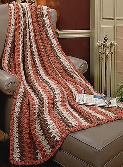 ePattern Long Double Crochet Stripes Afghan
