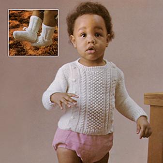 ePattern Side-Button Sweater & Booties