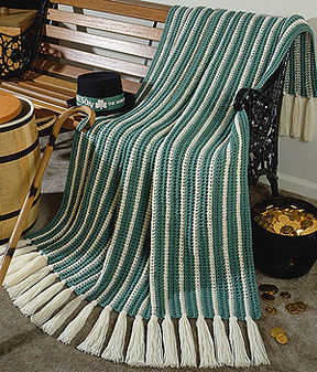 ePattern Lucky Striped Afghan