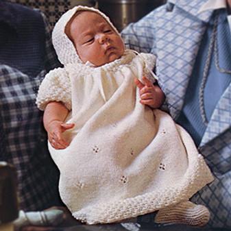 ePattern Christening Dress, Bonnet, & Booties