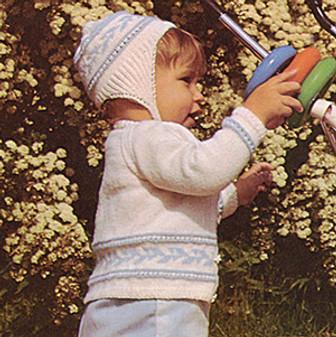 ePattern Fair Isle Cardigan & Helmet