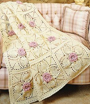 ePattern Roses & Pineapples Afghan