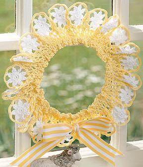 ePattern Daisies Wreath