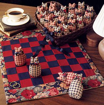 ePattern Cat Checkerboard Game