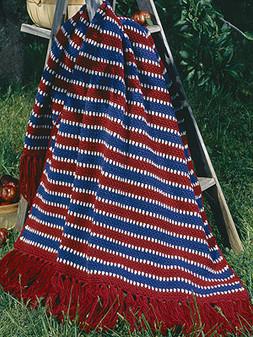 ePattern Colonial Stripe Afghan