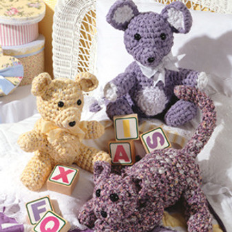 ePattern Crochet Rag Animals