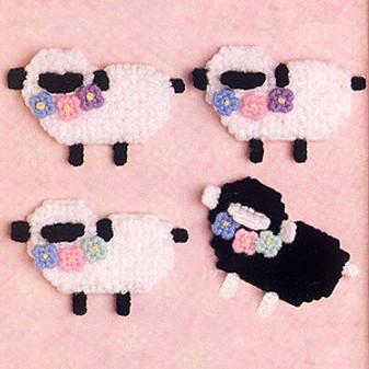 ePattern Little Lambs in Plastic Canvas