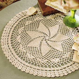 ePattern Picturesque Pinwheel Doily