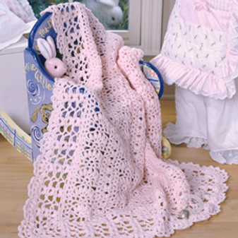 ePattern Perfect in Pink Baby Afghan