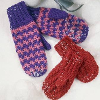 ePattern Quick Mittens to Crochet