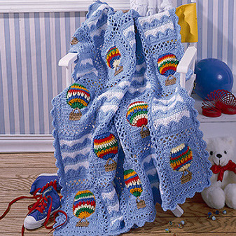 ePattern Up Up and Away Afghan