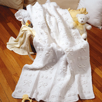 ePattern Buttons & Bows Blanket