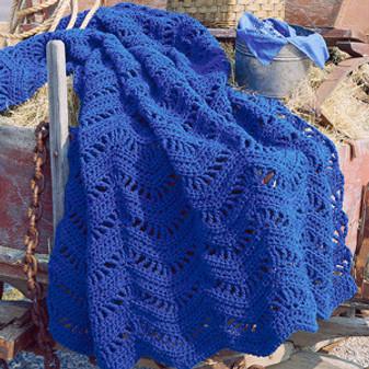 ePattern True Blue Ripple Afghan