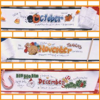 ePattern Handy Hand Towels 4 - October, November, December
