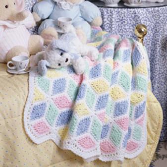 ePattern Tumbling Baby Blocks Afghan