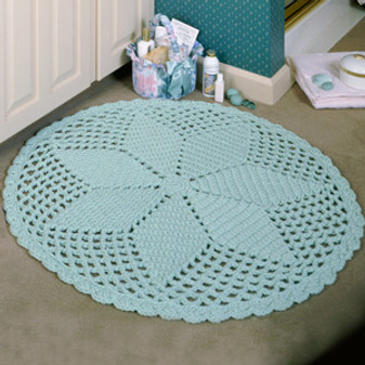 ePattern Round Diamond Lace Rug