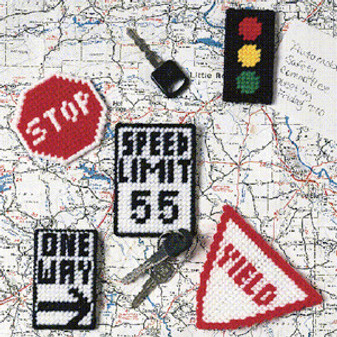 ePattern Road Sign Magnets in Plastic Canvas