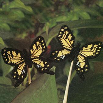 ePattern Beautiful Butterfly Poke in Plastic Canvas