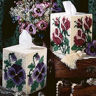 ePattern Roses & Pansies Tissue Box Covers