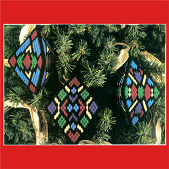 ePattern Stained Glass Ornaments in Plastic Canvas