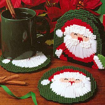 ePattern Santa Claus Coasters in Plastic Canvas