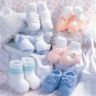 ePattern Pastel Baby Booties