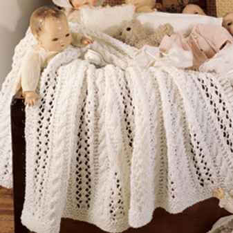 ePattern Leaf & Cable Baby Wrap