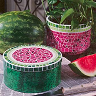 ePattern Watermelon Tin & Flowerpot