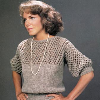 ePattern Lace Yoke Sweater